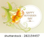 happy mother's day card with... | Shutterstock . vector #282154457