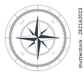 wind rose conceptual... | Shutterstock .eps vector #282162023