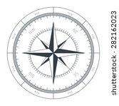 wind rose conceptual...   Shutterstock .eps vector #282162023