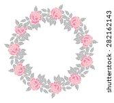 cute floral border on white... | Shutterstock .eps vector #282162143