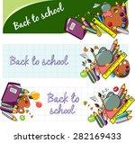 back to school vector | Shutterstock .eps vector #282169433