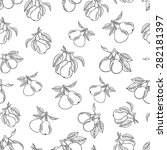 pear seamless pattern. a... | Shutterstock .eps vector #282181397