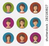 illustration set colorful... | Shutterstock . vector #282183827