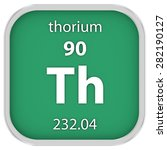 thorium material on the... | Shutterstock . vector #282190127