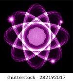 dark purple shining atom scheme....   Shutterstock .eps vector #282192017