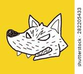 werewolf doodle | Shutterstock .eps vector #282205433