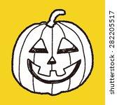 pumpkin doodle | Shutterstock .eps vector #282205517