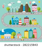 green city ecology  model with... | Shutterstock .eps vector #282215843
