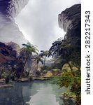 illustration of tropical... | Shutterstock . vector #282217343