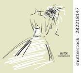 art sketch  8 of beautiful...   Shutterstock .eps vector #282218147