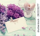 Background  With Fresh Lilac...