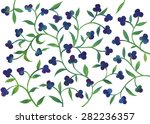 blue and green floral ornament. ...   Shutterstock .eps vector #282236357