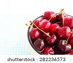 cherries in a ceramic bowl | Shutterstock . vector #282236573