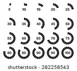 loading or percentage icons set ... | Shutterstock .eps vector #282258563