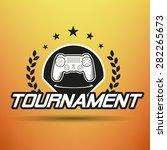 computer game tournament label | Shutterstock . vector #282265673
