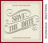 save the date  illustrator... | Shutterstock .eps vector #282274343