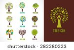 collection of green tree  ... | Shutterstock .eps vector #282280223