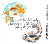Hand Drawn Quote With A Koi...