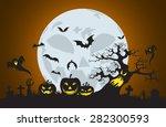vector halloween background... | Shutterstock .eps vector #282300593
