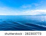 Blue Sea Blue Sky Horizon
