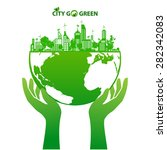 city energy conserve with green ... | Shutterstock .eps vector #282342083