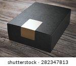 black box with golden sticker | Shutterstock . vector #282347813