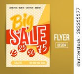 abstract creative sale flyers ... | Shutterstock . vector #282355577
