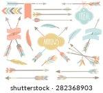 tribal clip art   american... | Shutterstock .eps vector #282368903