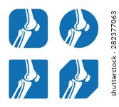 vector human knee joint icons | Shutterstock .eps vector #282377063