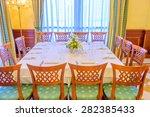 classic dining room in luxury... | Shutterstock . vector #282385433