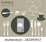 formal table setting formal... | Shutterstock .eps vector #282393917