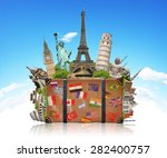 famous monuments of the world... | Shutterstock . vector #282400757