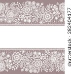 lace card. | Shutterstock .eps vector #282404177