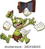 Crazy Patent Troll. Vector Cli...