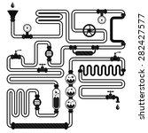 vector pipeline silhouette ... | Shutterstock .eps vector #282427577