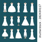 set of different styles wedding ... | Shutterstock .eps vector #282434117
