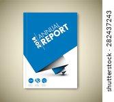 modern annual report vector... | Shutterstock .eps vector #282437243
