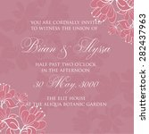wedding invitation card | Shutterstock .eps vector #282437963