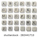 alphabet letters on wooden... | Shutterstock . vector #282441713