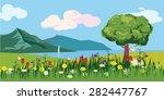 beautiful sea landscape ...   Shutterstock .eps vector #282447767