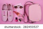 beautiful women's minimal set... | Shutterstock . vector #282453527