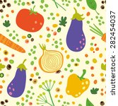 the pattern with summer harvest ...   Shutterstock .eps vector #282454037