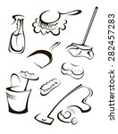 items for cleaning   Shutterstock .eps vector #282457283
