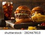 Juicy Blue Cheese Hamburger...