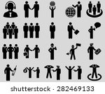 management and people... | Shutterstock .eps vector #282469133