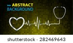 a stethoscope with a heart beat.... | Shutterstock .eps vector #282469643