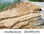 natural disasters  landslides... | Shutterstock . vector #282490193