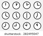 icons 24 hours. watches and... | Shutterstock .eps vector #282495047
