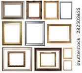 picture frames. isolated on... | Shutterstock . vector #282503633