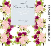 invitation card with floral... | Shutterstock .eps vector #282504293